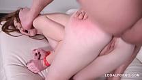 Rough and kinky BDSM anal fuck with bondage redhead Linda Sweet GP120