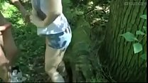 Cute little bitch giving to friends in the bush fell on the net