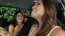 GIRLS GONE WILD - Hot Young Lesbians Eating Pussy In A Van