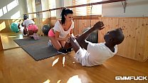 Ultra Fit nympho Jasmine Jae Fucked In Interracial Training Session