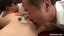 Sushi girl is the main course of the office gangbang Vorschaubild