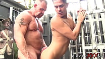 Twinkie Cums While Being Fucked By Huge Homosex