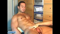 A real heterosexual sport guy serviced his huge cock by a gay guy (enzo) ! tumblr xxx video