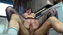Lovely Canadian Housewife Shanda Fay Stuffed With Meat In The Kitchen