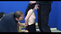 bdsm rough sex - Brunette teen got spanked and facefucked - WWW.GIFALT.COM - bondage fetish