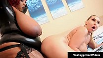 Curvy Nina Kayy StrapOn Fucked By Black BBW Jalisa Elite!