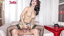 TRANSBELLA - Natalia Rodriguez & Pierre DJ - Hot MILF TGirl Rough Fucked By Hungry Daddy
