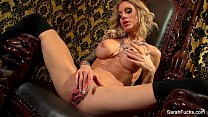 Sarah Jessie plays with her pussy thumbnail