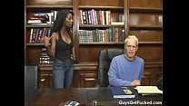 Monica foster strapon fucks a man