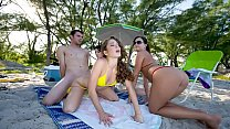 BRANDI BELLE - At The Beach With My Friends Katie Michaels and Elena Cole, The Evan Woods Shows Up