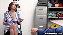 Busty milf Krissy Lynn negotiating with the officer