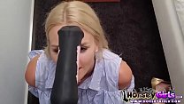 school girl loves horse dildo thumbnail