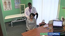 Fake Hospital Stiff neck followed by a big stiff cock as fucked on doctors desk preview image