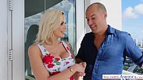 Bombs away! Nina Elle's big fat tits in your face! - Naughty America