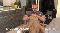 crossdressed boy slut fucked bareback for CRUNCHBOY by the big cock of FRED in BORDEAUX