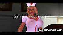 Sexy 3D cartoon nurse sucking cock and getting fucked