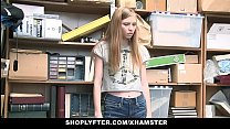 ShopLyfter - Cute Teen (Ava Parker) Caught Stealing Blows LP Officer