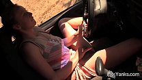 Yanks Babe Aden Rose Cums In The Car thumbnail