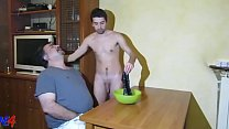 Straight male piss in the basin and washes the fag's face with the piss! Total Esculacho