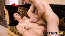 MATURE4K. Man and stepmother are carnal being united in single act of sex