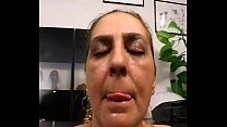 Tina Monti hairy Italian mature - anal office ufficio