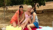 Deny Devin and Iris play with each other outdoors by Sapphic Erotica