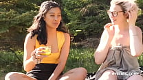 Sexy Amateur Lesbian Outdoor Love Making