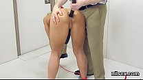 Slutty chick is brought in ass hole assylum for harsh treatment