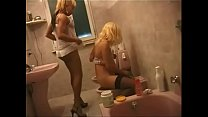 Transsexual lesbians jerking off their cock