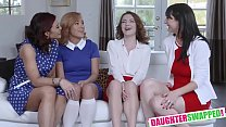 Ryder Skye,Alessandra Snow, Piper Palmer and Rosalyn Sphinx In Sexy Milfs Swap Their Aggressive Teen Slut Daughter