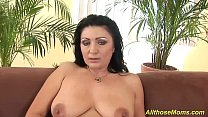 horny mom with big nipples playing wild