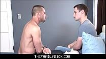 Hunk Stepdad Myles Landon Pays Straight Twink Stepson Josh Cannon For Family Sex For Girlfriends Abortion