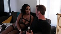 Ebony Layton Benton fucks in fishnet tights Thumbnail