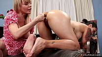 Image: Blonde therapist anal toys tattooed babe