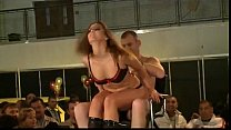 Stripper oils up a guy and teases him