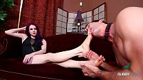 Valora's Foot Sissy/Gagged by Goddess's Feet