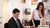 Busty secretary Brooklyn Chase gets a pearl nec...