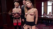Group of hot slaves fucked in bdsm party