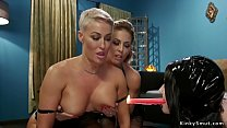 Lesbians butts whipped and fucked lezdom
