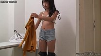 Japanese Sexy Idol Rena in Public Changing Room