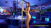 Casting and fucking a gorgeous Thai gogo bar da...