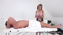 British MILF Sonia gives a massage and gets fucked good preview image
