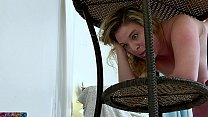 stepmom stuck and fucked in the patio furniture