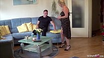 GERMAN MATURE seduce YOUNG BOY NEIGHBOR to Fuck...