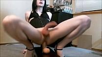 Hot nerdy shemale anal orgasm with cumshot - tscamdolls.com