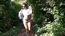 Flashing ebony milf Mels black public nudity and outdoor upskirts adventures Preview