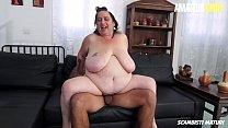 AMATEUR EURO - Young Stud Fucks Hard A BBW Mature Lady - Jessica Grandi