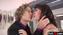 Pretty stepmom and her hung stepson go to bed