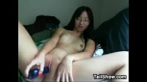 Naughty Asian Nerd With A Toy