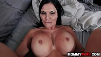 Son catches step mom mastubating and fucks her